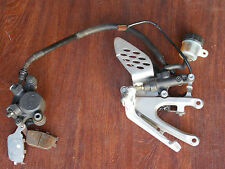 2004 2006 Yamaha YZF-R1 OEM right footpeg with master cylinder with brake pad