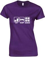 Eat Sleep Portal Heart Cube, Portal inspired Ladie's Printed T-Shirt Soft Tshirt