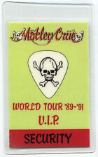 Motley Crue 1989 Dr. Feelgood Tour Laminate Backstage Pass! concert stage Otto