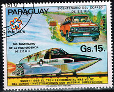 Paraguay Aviation US Airforce Plane and Car stamp 1976