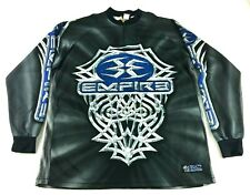 Empire Mens Gray Blue Long Sleeve 1/4 Zip Shirt Size Large Paintball Jersey