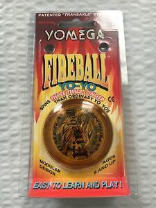 Vintage Yomega Yo-Yo Corp MADE IN USA Fireball High Performance Yo-Yo Amber New
