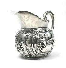 Antique Victorian Sterling Silver Milk Jug Novelty Nursery Rhymes 1898 Import