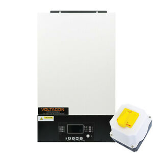 Conversol 3kW 24V Inverter Off Grid MPPT Charger Bluetooth with DC-Switch