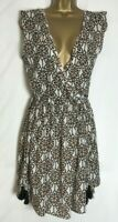 Next Oversized Multi Print Beach Cover Up Dress/Tunic Top Size 6 - 22 (n-61h)
