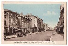 CPA 69 - BELLEVILLE SUR SAONE (Rhône) - La Rue de la République dans le bas de l