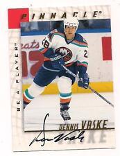 1997/8 Pinnacle Be A Player Auto Dennis Vaske New York Islanders