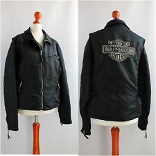 Vintage HARLEY - DAVIDSON Reflective Logo Nylon Jacket Quilted lining motorcycle