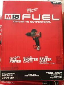 """Milwaukee FUEL 2804-20 18V 1/2"""" Cordless Brushless Hammer Drill M18( BRAND NEW )"""