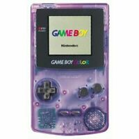 Original Nintendo Game Boy Color System Clear Atomic Purple