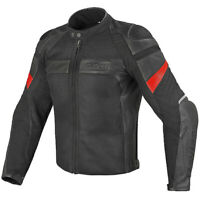 DAINESE Jacket Leather FRAZER black 56