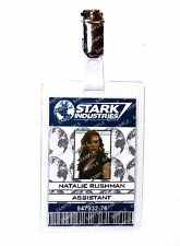 Iron Man Stark Natalie Rushman ID Badge Cosplay Prop Costume Comic Con