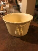 Antique Weller Art Pottery Creamware Bowl with Tassles