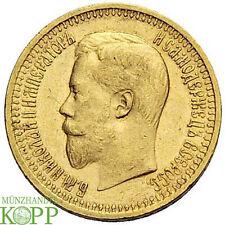 R636) RUSSLAND 7 Rubel 50 Kopeken 1897 АГ - Nikolaus II. - Gold