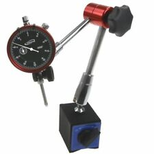 """Magnetic Base Dial Indicator 1""""/0.0005"""" 14"""" Reach Central Locking Heavy Duty"""