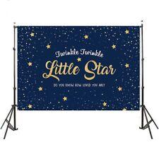 Twinkle Little Gold Stars Navy Blue Wall Custom Photography Studio Backdrops