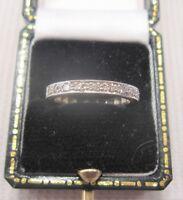A Pretty Edwardian Diamond Half Eternity Ring in Solid Platinum