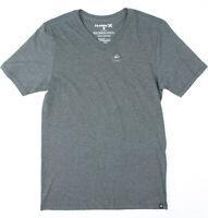 Hurley Mens Staple V-Neck Short Sleeve T-Shirt Charcoal S New