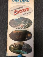 1966 CHEVRON Oakland Adjacent Cities & Southern Alameda County Map Vintage