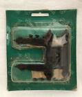 "Vintage Amerock Colonial Black HL Cabinet Hinge Spade A-1622-CB 3/8"" Offset CQ"