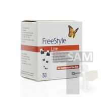 FREESTYLE Lite Blood Glucose 50CT -Same Day Shipping- Exp 6-30-2020+  (EHK)