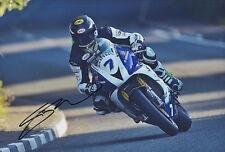 Gary Johnson Hand Signed 12x8 Photo Smiths Triumph Isle of Man TT 1.