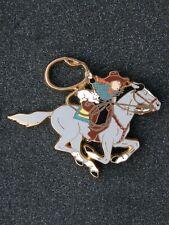 pin's TINTIN cheval , variante 2 - dim : 76x61 mm , hergé , bd