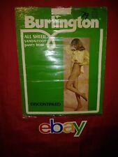 Vintage Burlington All Sheer Sandalfoot Panty Hose EMPTY PACKAGE AD PRINT