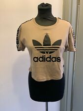 Adidas Brown Black Crop Top Size 4/XS Read Description