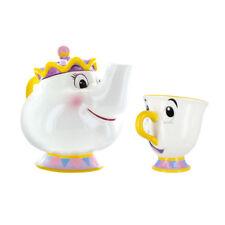 Disney Princesse Belle et la Bête Mme Potts Théière et Chip Tasse Ensemble