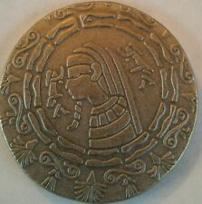 Antiqued Egyptian 1/2 oz .999 silver coin hand stamped like ancient king tut