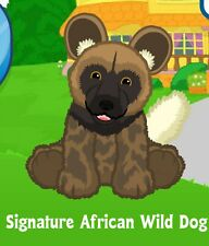 Webkinz Signature African Wild Dog ( unused code only ) !Proven Seller!