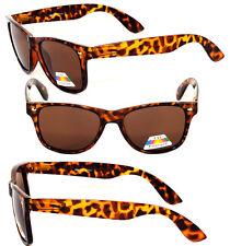Retro Classic Square Frame Polorized Sunglasses - Tortoise WF08