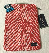 "AUTHENTIC JANSPORT LAPTOP SLEEVE 15"" (CORAL PEACHES WILD HEART)"