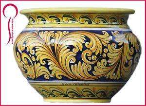 caspo in ceramica di caltagirone vaso portapiante porta piante vasi portavaso