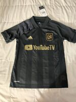 Adidas LAFC Home Jersey 2020/21 Black And Gold Stadium Cut Size Youth Small Only