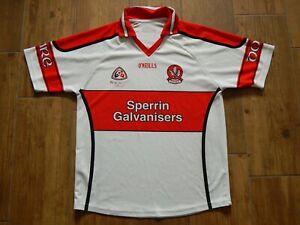 DERRY 2007 ALL IRELAND MINOR FINAL GAA GAELIC FOOTBALL JERSEY/SHIRT No.34 MENS M