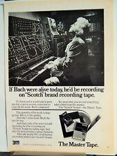 SCOTCH BLANK AUDIO RECORDING TAPE / GILBEY'S FINE GIN VTG 1974 AD,