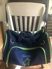"Eeuc Pottery Barn Kids ""Gavin"" Large Blue Duffle Bag Tote"