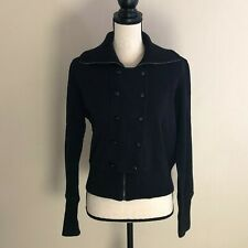 WOMENS Banana Republic Black Military Style Sweatshirt SIZE Large