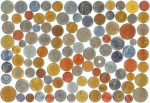 200 DIFFERENT COINS FROM 60 WORLD COUNTRIES. OLD COLLECTIBLE FOREIGN CURRENCY