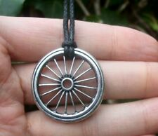 Gypsy Wheel Necklace pendant Talisman + Box- Fortune, Amulet,  Magick Witchcraft