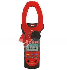 True RMS Digital Clamp Multimeter AC/DC Volt Amp Ohm Hz Temp Tester UNI-T UT208