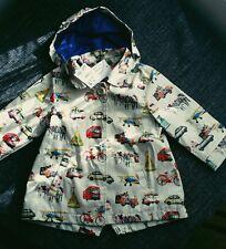 12-18 months girl cute raincoat coat jacket london bus cars print NEXT BNWT