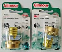 Gilmour 3/4 Hot Water Brass Hose Clinch Coupler Gilmour Hose Repair C34F 2PKS