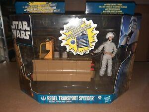 Star Wars - Rebel Transport Speeder + Rebel Ground Crew -  2011 Rare