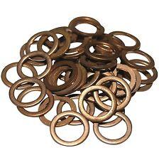 50 Copper Sump Washers. VW, Vauxhall, Mercedes, SW16x50.  Size: Cu 14 x 20 x 1.5
