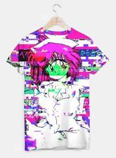 Live Heroes Japanese Anime Glitch Screen Nurse Graphic Men's T-Shirt 100% Cotton