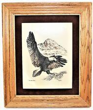 Kiana Alaska Mint Marble Etching American Bald Eagle Bill Devine 1981 Framed