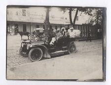PHOTO ANCIENNE 1910 Voiture Automobile Auto Renault Citroën Peugeot Groupe